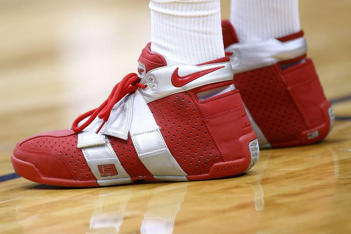 NEW ORLEANS, LA - MARCH 17: Nike shoes are seen worn by PJ Tucker #4 of the Houston Rockets during the first half against the New Orleans Pelicans at the Smoothie King Center on March 17, 2018 in New Orleans, Louisiana. NOTE TO USER: User expressly acknowledges and agrees that, by downloading and or using this photograph, User is consenting to the terms and conditions of the Getty Images License Agreement. (Photo by Jonathan Bachman/Getty Images)
