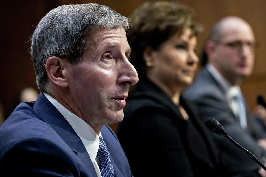 Joseph Simons in February 2018 during a confirmation hearing to become chairman of the Federal Trade Commission in advance of taking office May 1. On June 20, the FTC announced it would hold a series of hearings to address whether sweeping changes are needed in how it enforces consumer protection and marketplace competition. Photo: Andrew Harrer / Bloomberg / © 2018 Bloomberg Finance LP
