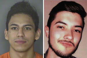 Jared Vargas (right) had been missing for three days prior to being discovered Monday in the apartment unit in the 7900 block of Jones Maltsberger Road. Ernesto Esquivel-Garcia (left) has been charged with murder, arson and abuse of a corpse in connection to the death.