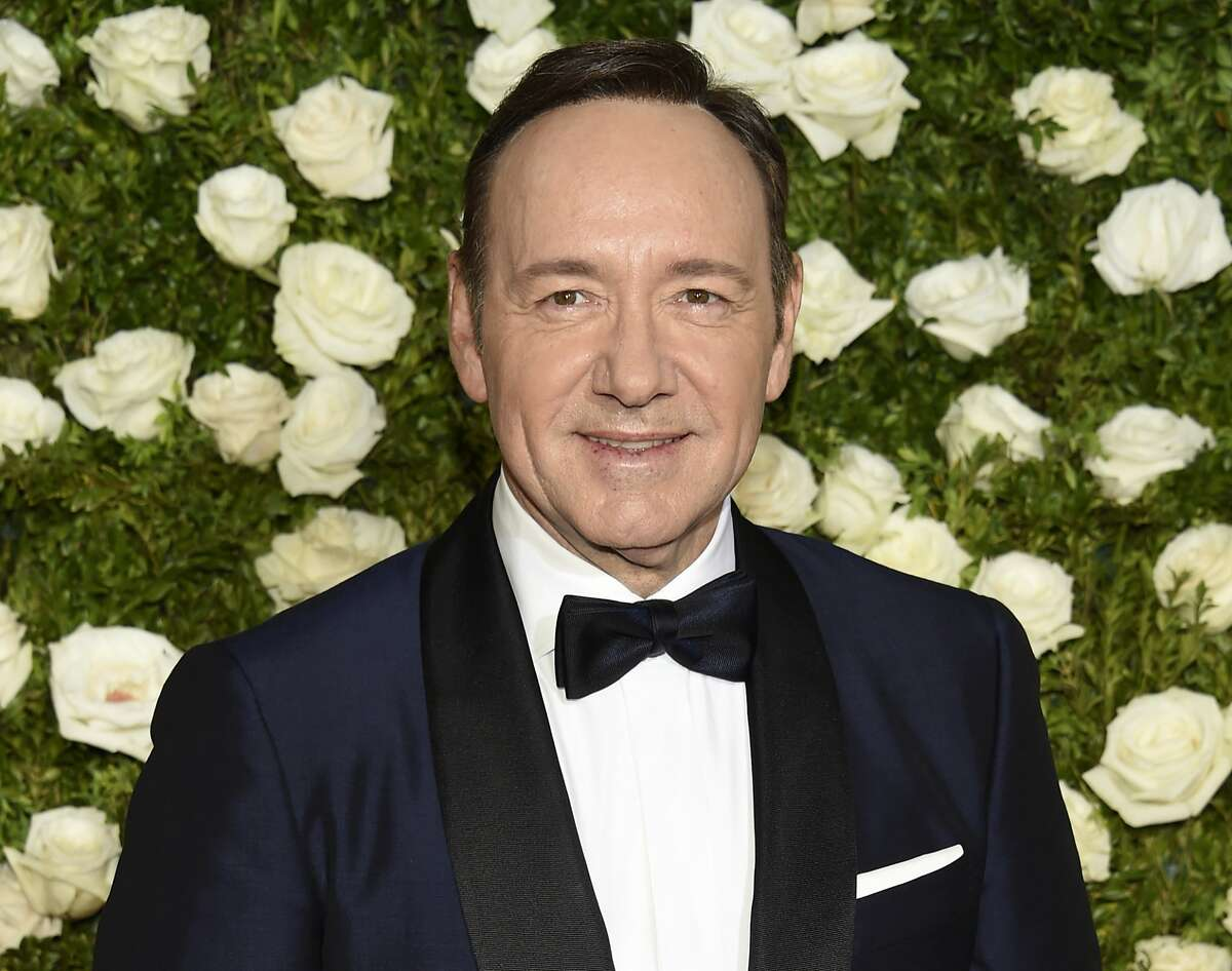 FILE - In this June 11, 2017 file photo, Kevin Spacey arrives at the 71st annual Tony Awards at Radio City Music Hall in New York. Spacey, accused of sexual misconduct or assault by at least 24 men, was erased from