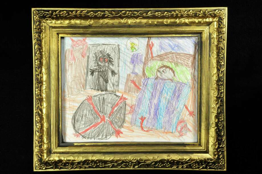 """A piece of art displayed at the Wilde Collection's""""Nightmares & Invisible Friends"""" exhibit, which mines children's fears and imaginary friends for art. Photo: Courtesy Photo / Courtesy Photo"""