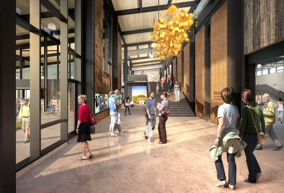 A rendering of the new Tillamook Creamery visitor's center. Photo: Courtesy Of Tillamook