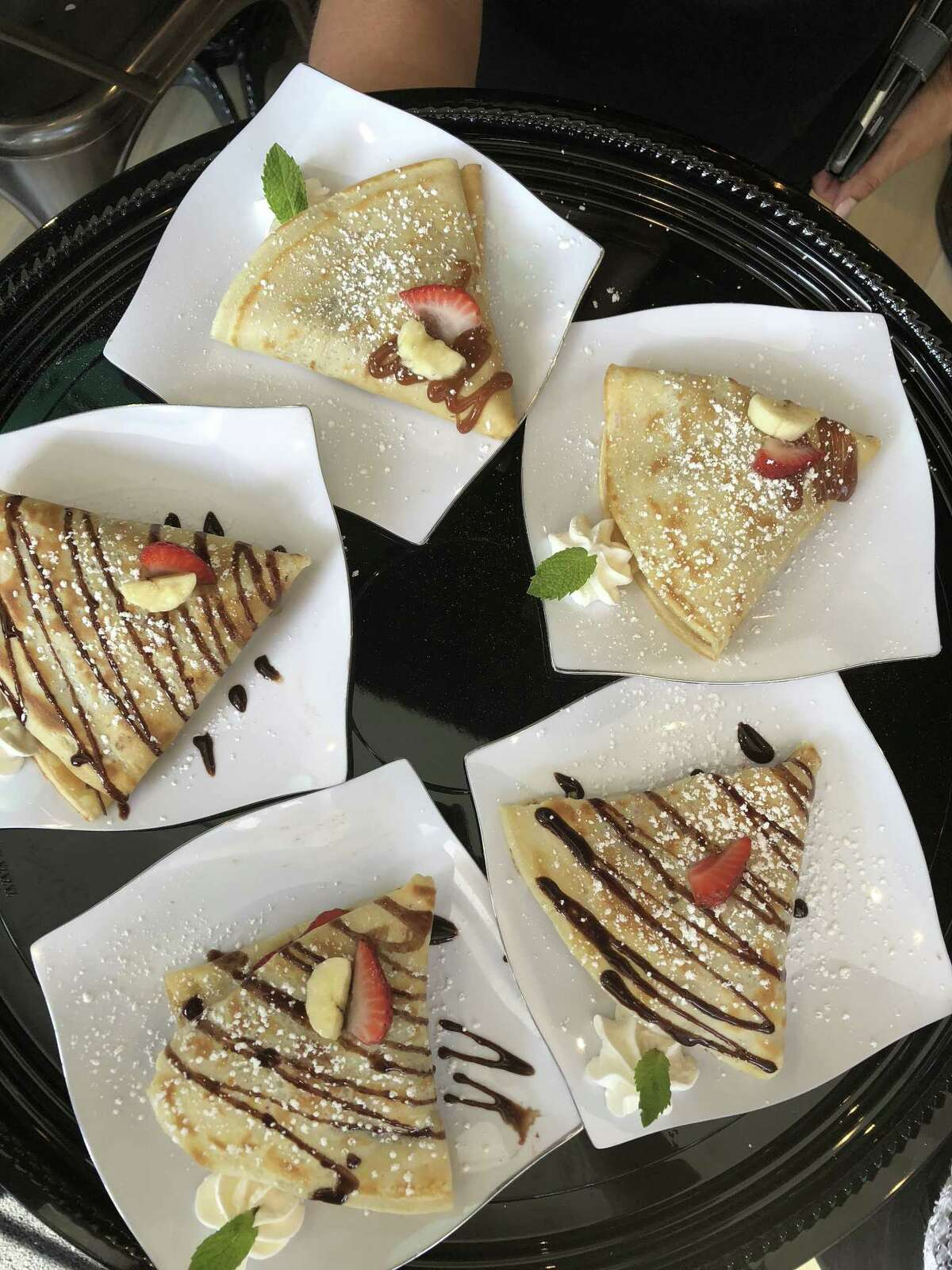 A selection of crepes from Sweet Paris La Centerra at Cinco Ranch is located at 23501 Cinco Ranch Blvd., S120, Katy, TX 77494.