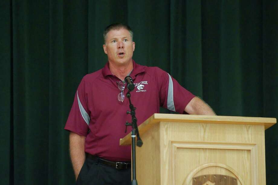 Former Clear Creek head football coach Darrell Warden spent his final day on campus Wednesday, eager to see what the future has in store. Photo: KIRK SIDES / Kirk Sides