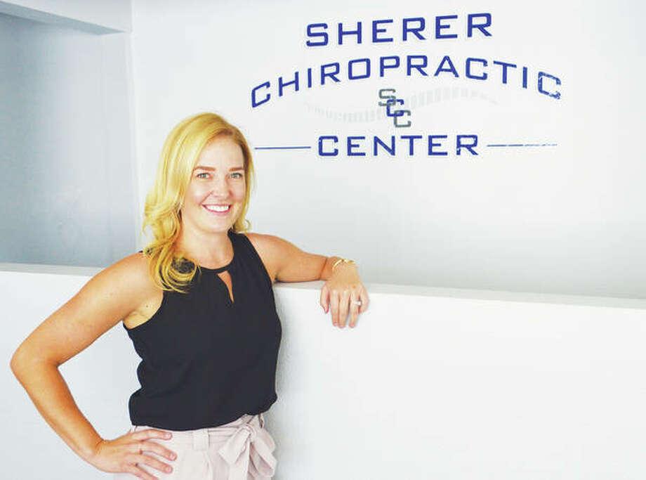Dr. Renee L. Edelen at Sherer Chiropractic Center in Godfrey. Photo:       Vicki Bennington|For The Telegraph