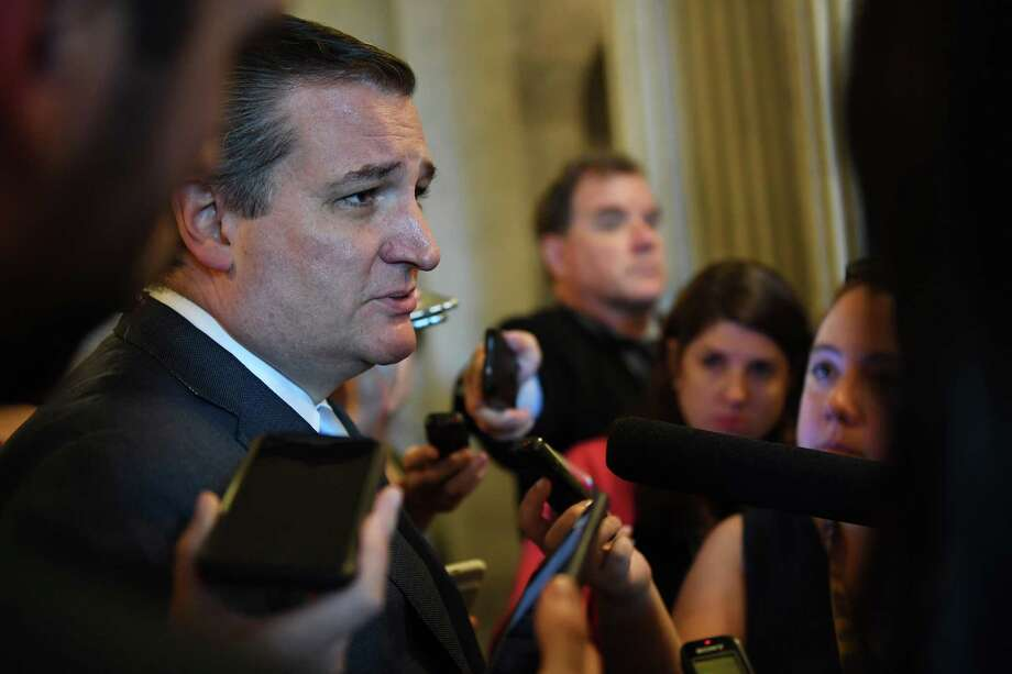 Sen. Ted Cruz, R-Texas, speaks to reporters on Capitol Hill on Tuesday. Photo: Washington Post Photo By Matt McClain / The Washington Post