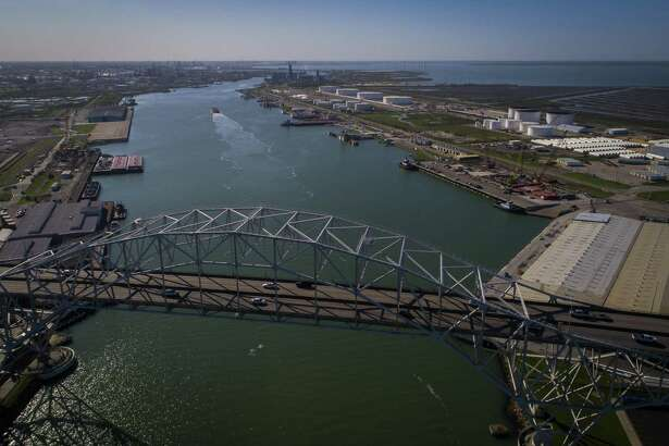 The Harbor Bridge crosses over the Port of Corpus Christi, which has become a major exporter for U.S.-produced crude oil.