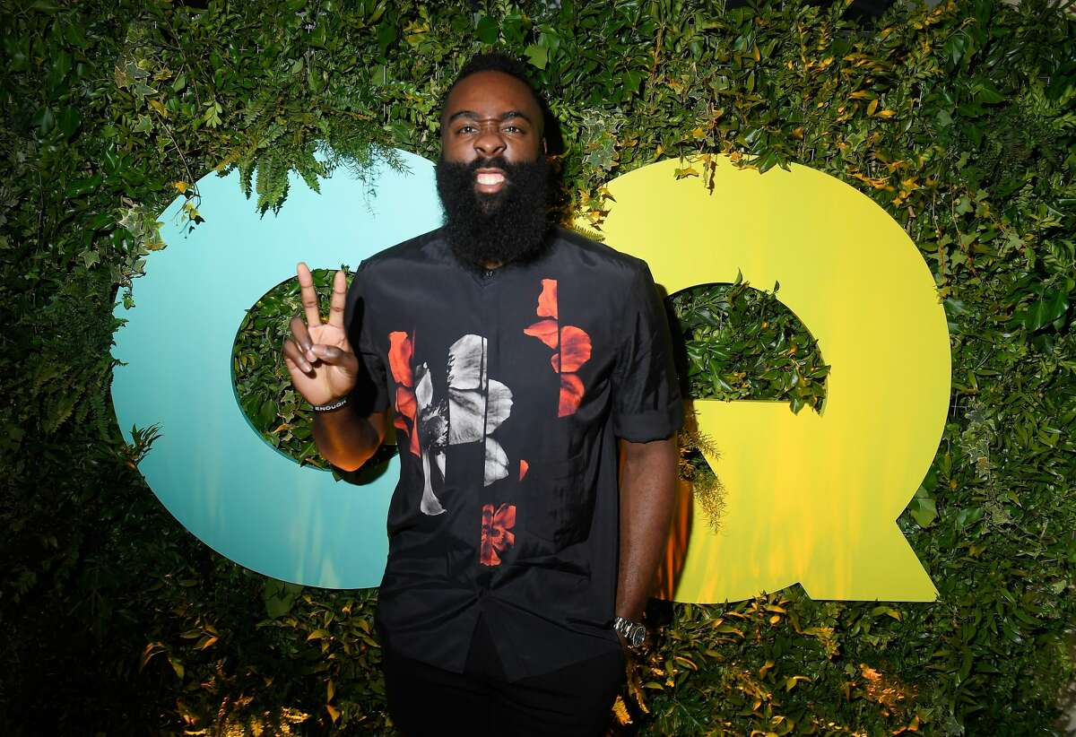 MILAN, ITALY - JUNE 16: James Harden attends the GQ Milan Cocktail Party during Milan Men's Fashion Week Spring/Summer 2018/19 on June 16, 2018 in Milan, Italy. (Photo by Victor Boyko/Getty Images for GQ)