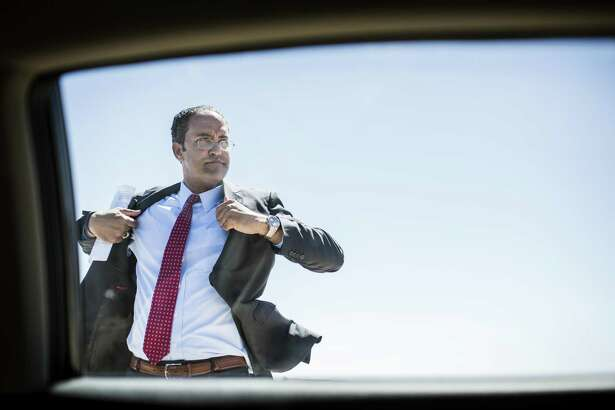 TORNILLO, TEXAS - Representative Will Hurd of the 23rd Congressional District of Texas arrives to the Marcelino Serna Port of Entry Naming Ceremony on the US border with Mexico, in his constituency, in Tornillo, Texas Wednesday April 19, 2017. (Photo by Melina Mara/The Washington Post via Getty Images)