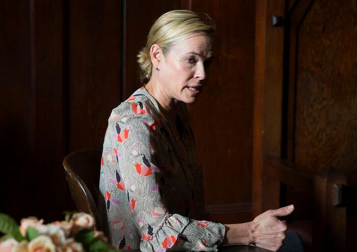 Comedian and activist Chelsea Handler sits down with San Francisco Chronicle reporter Joe Garofoli before an appearance at the Swedish American Hall in San Francisco, Calif. Wednesday, June 13, 2018.