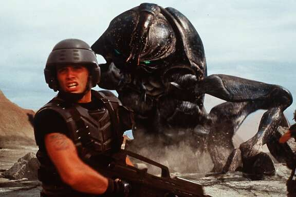 A scene from the movie Starship Troopers, with special effects by Phil Tippett.