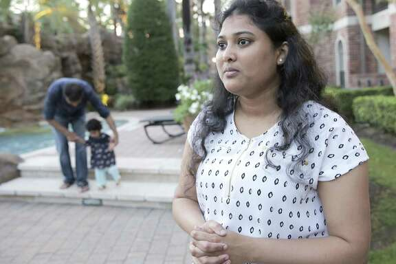"""Manasa Kokonda is one of thousands of Indian women with the H-4EAD visas who will likely lose their work authorization this year under Trump's """"Buy American, Hire American"""" executive order. """"I cannot imagine my life again sitting at home,"""" said Kokanda, who works as a software analyst for a local energy services company."""