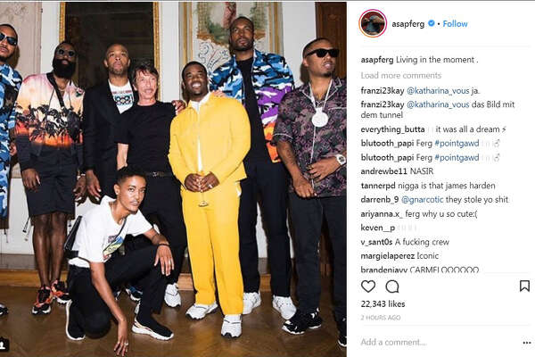 67e1bb526e19 3of53A AP Ferg posted a photo from Paris with (from left)  Carmelo Anthony