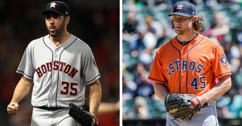 PHOTOS: Houston Astros 2018 salaries Astros starters Justin Verlander, left, and Gerrit Cole. >>>See contract situations and salaries for each Astros player ... Photo: Getty