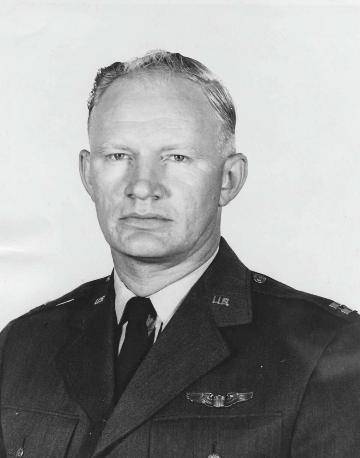 PHOTO FILED: GARY HEROD. Capt. Gary L. Herod, who died in a T-33 crash near Meyerland on March 15, 1961. Post file