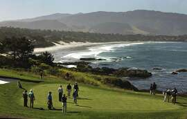 Grahamm McDowell had four pars on Pebble Beach's 8th hole, above, en route to winning the 2010 U.S. Open at even par.