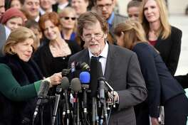 Baker Jack Phillips speaks outside the Supreme Court  on Dec. 5. The court recently upheld  his refusal to bake a wedding cake for a same-sex couple in Colorado. A letter writer has a reading recommendation for Phillips.