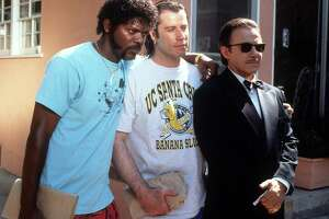 """Samuel L. Jackson (left) and John Travolta in the properly rated """"Pulp Fiction."""""""