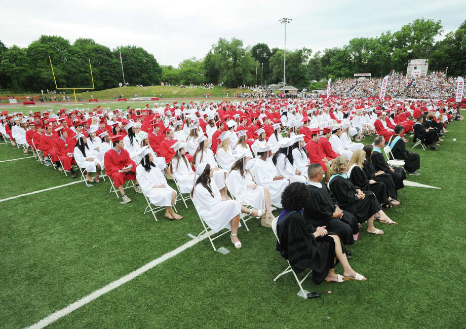 The 149th Greenwich High School Commencement at the school in Greenwich, Conn., Wednesday, June 20, 2018. Photo: Bob Luckey Jr., Hearst Connecticut Media / Greenwich Time