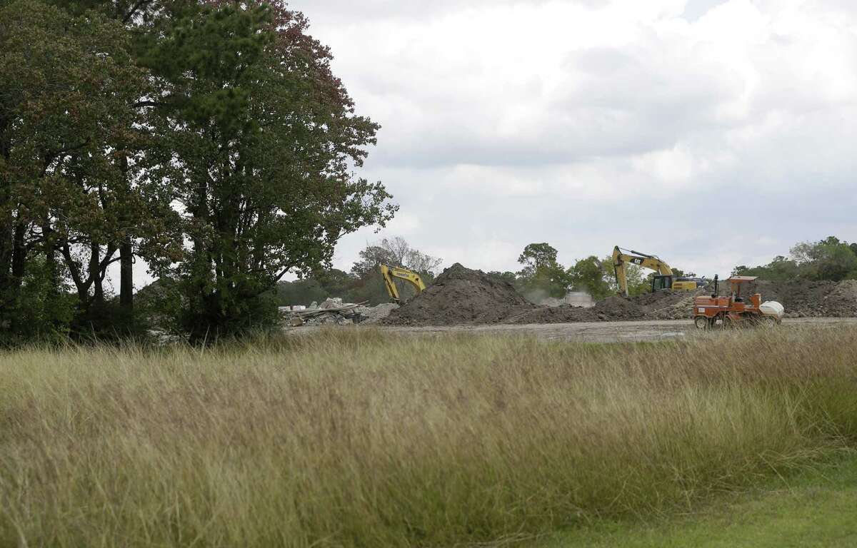 Construction is shown at the site of the of the former Pine Crest Golf Course, 3080 Gessner Road in Houston, on Oct. 31, 2017.