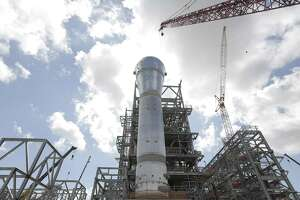 The new reactor at the construction site of LyondellBasell's polyethylene plant in Friday, June 15, 2018 in LaPorte. The new technology for the plant is suppose to give them an edge.  (Elizabeth Conley/Houston Chronicle)