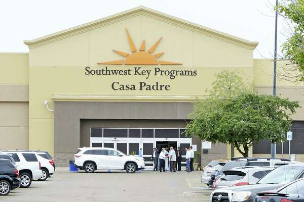 Dignitaries take a tour of Southwest Key Programs Casa Padre, a U.S. immigration facility in Brownsville on Monday, June 18, 2018, where children are detained.