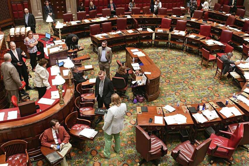 The senate chamber on the final day of session at the Capitol Wednesday, June 20, 2018 in Albany, N.Y.(Lori Van Buren/Times Union)