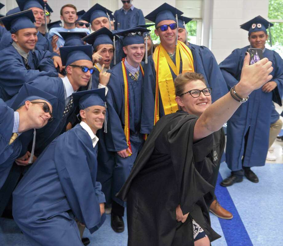 Oxford High School Class of 2018 Commencement, Wednesday, June 20, 2018, at Oxford High School, Oxford, Conn. Photo: H John Voorhees III, Hearst Connecticut Media / The News-Times
