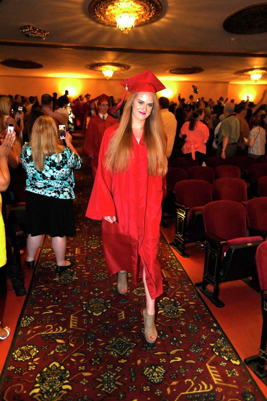 J.M. Wright Technical High School Class of 2018 commencement ceremony at The Palace Theatre in Stamford, Conn. on June 20, 2018. This is the first graduation for the school since it reopened in August of 2014.
