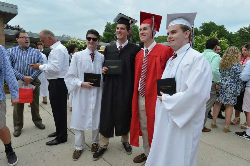 Fairfield Warde High School Commencement Exercises on Wednesday June 20, 2018 in Fairfield Conn.