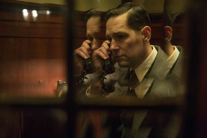 """Paul Rudd plays baseball's Moe Berg, a major-league catcher who spied for U.S. intelligence during World War II, as portrayed in the true-life drama """"The Catcher Was a Spy."""""""