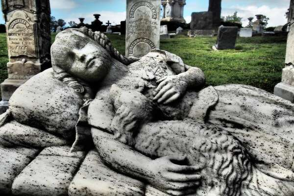 An example of Victorian cemetery art in Mountain View Cemetery in Oakland, Calif. This photo and others are featured in Bob Giles' latest book on the art of the American cemetery.