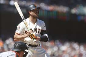 Hunter Pence had two RBI hits in the Giants' win over Miami Wednesday, which may have raised his trade value a notch.