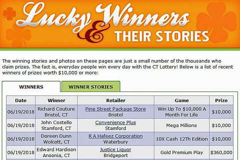 Ansonia man wins $360,000 after visit to package store