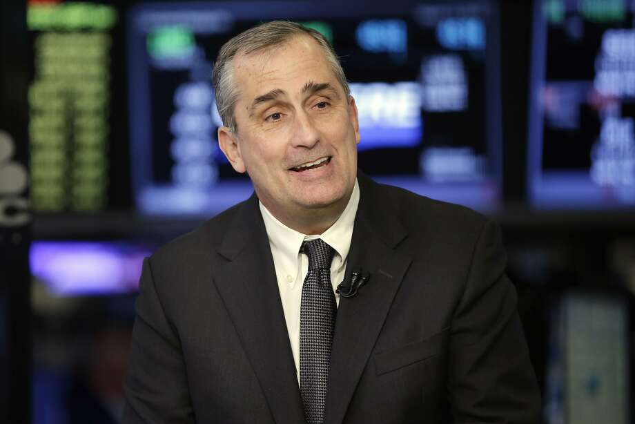 FILE- In this March 13, 2017, file photo, Intel CEO Brian Krzanich is interviewed on the floor of the New York Stock Exchange. Krzanich is resigning after the company learned of a consensual relationship that he had with an employee. Intel said Thursday, June 21, 2018, that the relationship was in violation of the company's non-fraternization policy, which applies to all managers.  Photo: Richard Drew, Associated Press
