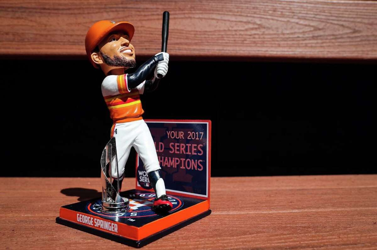 The Houston Astros' Bobblehead of the Month for May was George Springer.