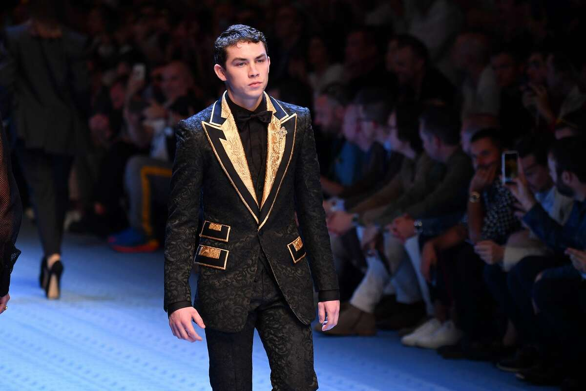 MILAN, ITALY - JUNE 16: Thomas Henry, son of San Antonio attorney Thomas J. Henry, walks the runway at the Dolce & Gabbana show during Milan Men's Fashion Week Spring/Summer 2019 on June 16, 2018 in Milan, Italy. (Photo by Jacopo Raule/Getty Images)