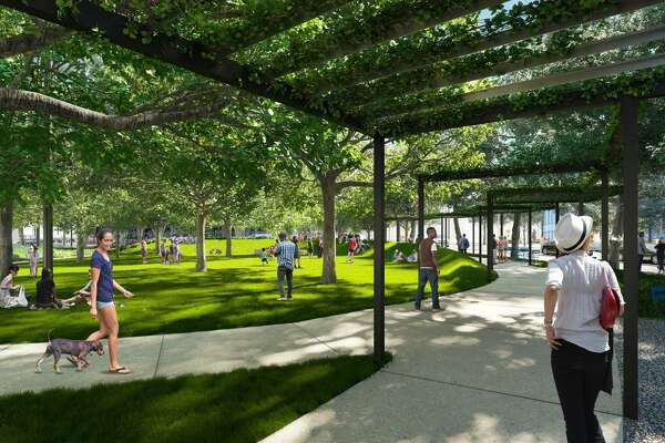 A park that local developer Weston Urban plans to construct across the street from the new Frost Tower won approval from the city's Historic and Design Review Commission on Wednesday.