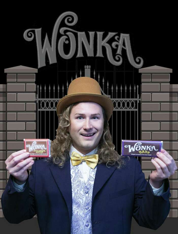 "Adam Isbell as Willy Wonka in Stage Right of Texas' production of ""Willy Wonka"" at the Crighton Theatre. The show has its final run on Sunday, July 22. Photo: Photo Courtesy Stage Right Of Texas / Michael Pittman all rights reserved"