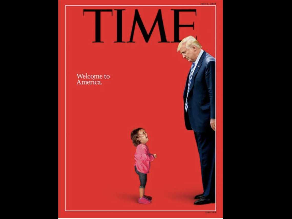 Time Magazine Migrant Child Crying Trump 13013906 on Weather Boarder
