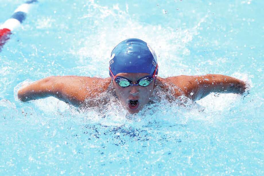Anna Moehn is one of nine TCAY Tidalwaves swimmers who will take part in the 80th annual Clayton Shaw Park Summer Invitational Meet Friday through Sunday. In addition, 40 Edwardsville YMCA Breakers are entered in the meet. Photo:     Telegraph File