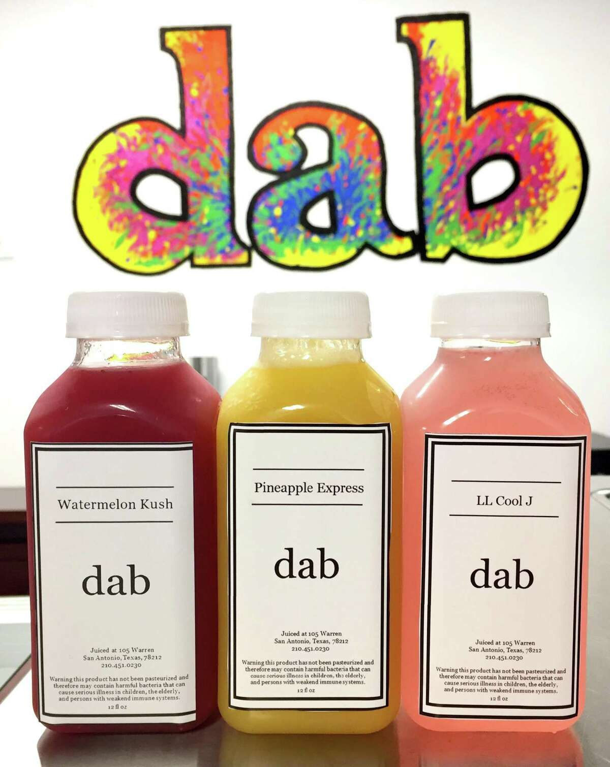 Customers can choose to add CBD oil to any of the fresh juices served at Dab Hemp Cafe.