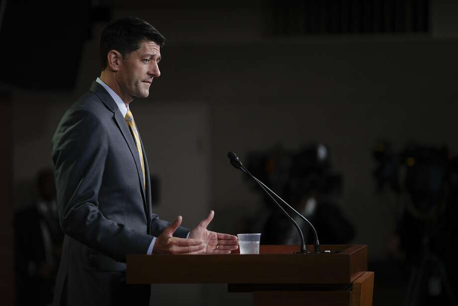 House Speaker Paul Ryan, R-Wis., declines to speculate on the House's next move after Republican leaders were forced to postpone a vote on compromise immigration legislation. Photo: Tom Brenner / New York Times