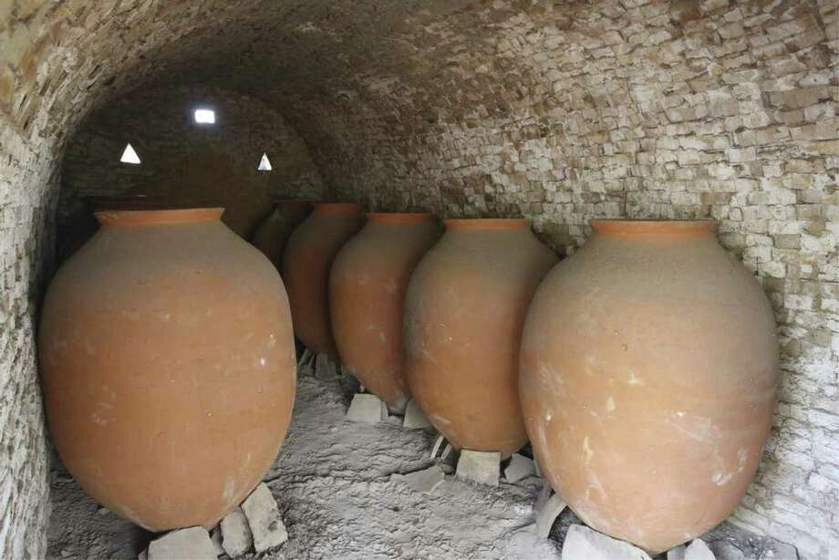 The ancient Country of Georgia started making these Qvevri 8,000 years ago to ferment wine. The egg-shaped clay vessels are coated internally with beeswax prior to fermentation of the grapes. These ancient vessels are still made today with the tradition of making these Qvevri handed down from father to son.