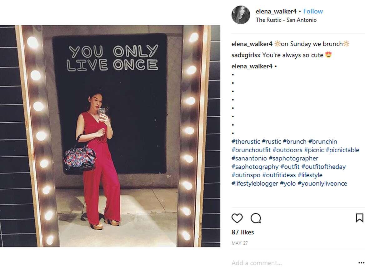 Click ahead to view San Antonio's top selfie spots. The Rustic's restroom