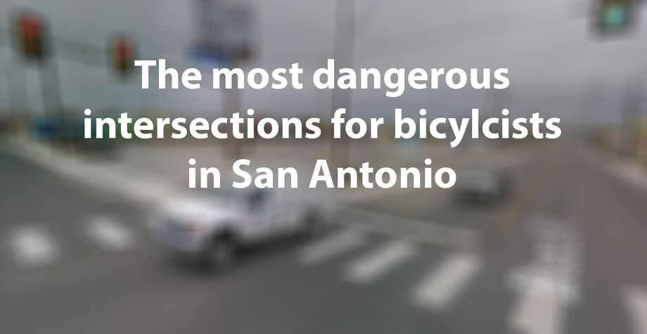 Between January 2013 and June 2018, more than 1800 collisions occurred between vehicles and bicyclists in San Antonio. One intersection saw as many as 10 collisions over the 5.5 year span. Click ahead to see the 24 intersections that had the most collisions. (Google Maps Screenshot) Photo: Google Maps Screenshot