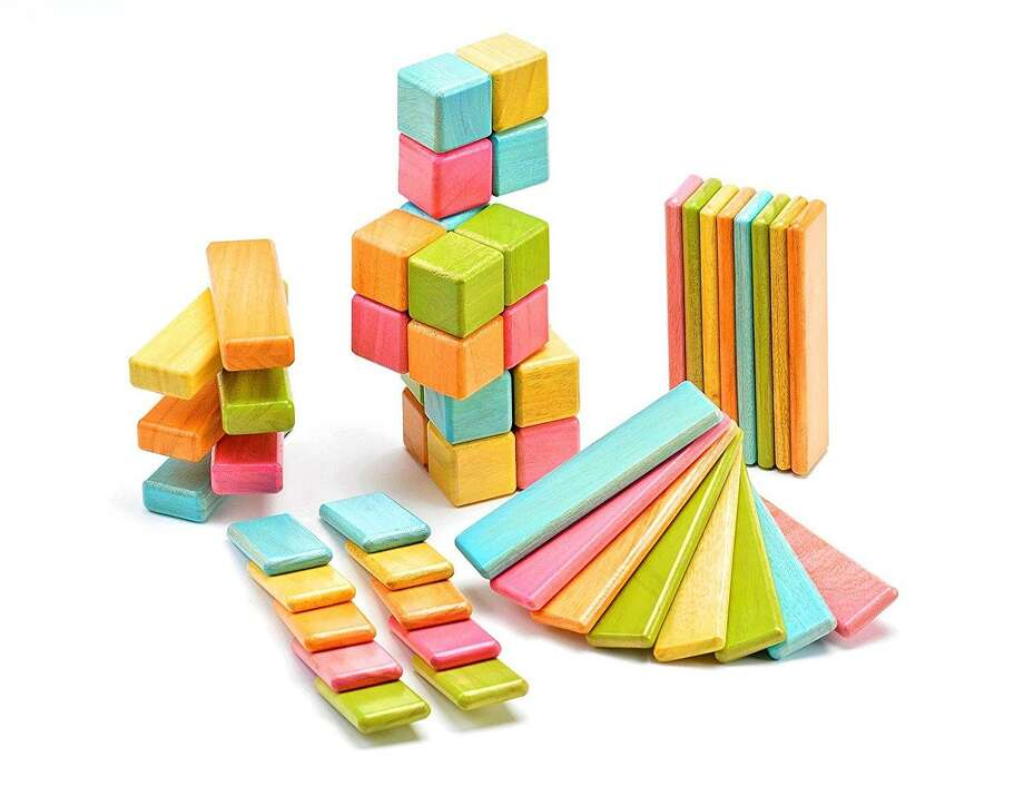 Tegu 52 Piece Original Magnetic Wooden Block Set, Tints: Toys & Games. Photo: Contributed Photo