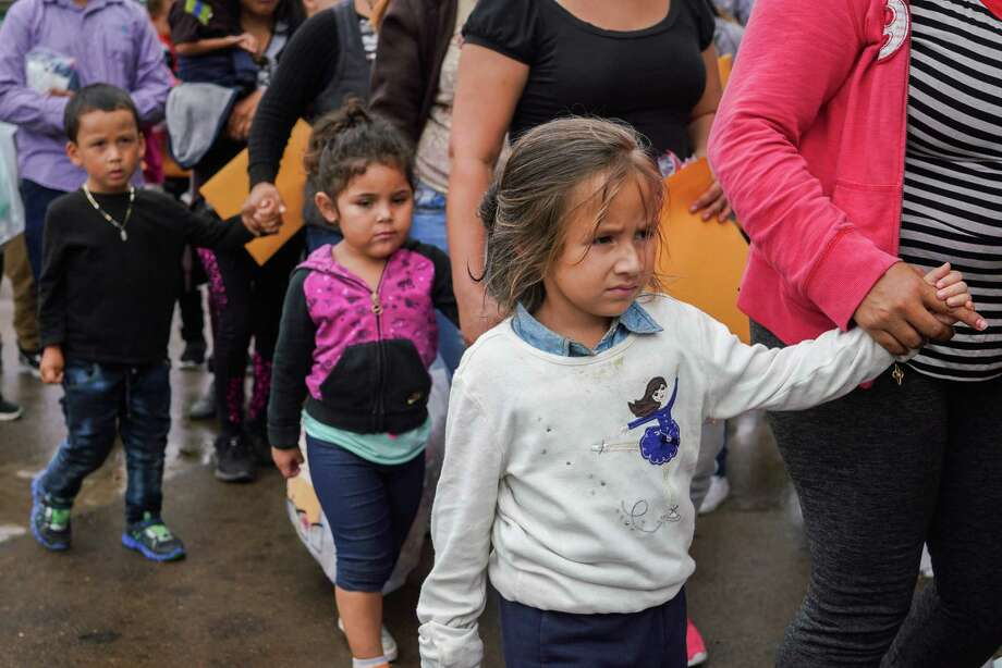 San Antonio shelter housing immigrant children, some taken