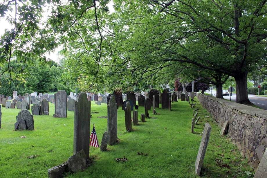 The town is seeking a state grant to help with the upkeep of the historic Old Burying Ground on Beach Road. Photo: Genevieve Reilly / Hearst Connecticut Media / Fairfield Citizen