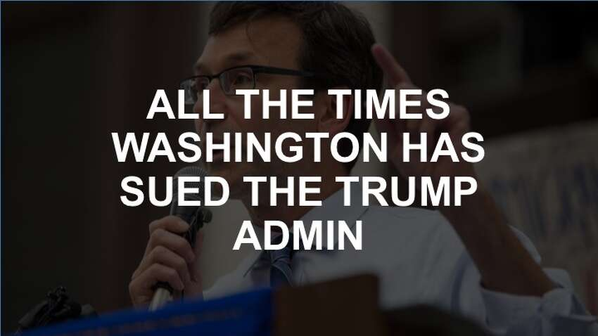 Check the slideshow to see all the times Washington has sued (or threatened to sue) the Trump administration.